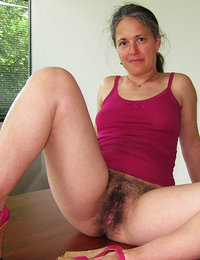 These women show off their lovely hairy cunts